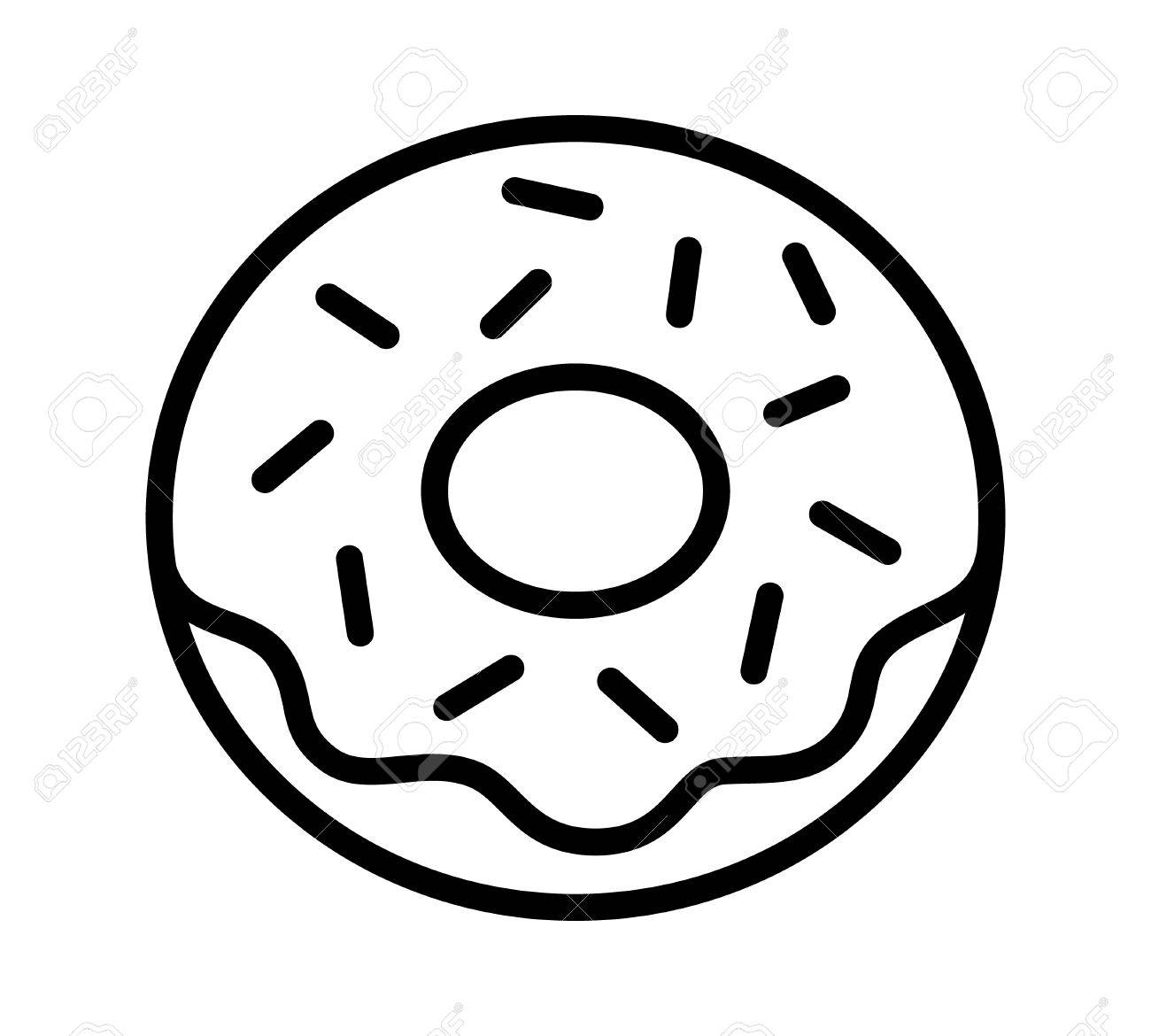 Donut clipart drawing. Line at getdrawings com