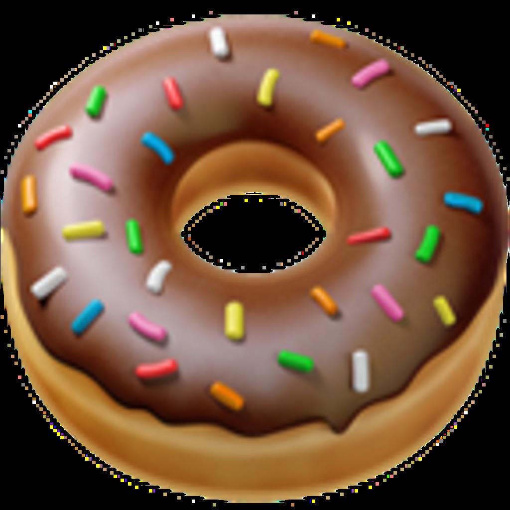 Doughnut clipart emoji. Iphone food donut sticker
