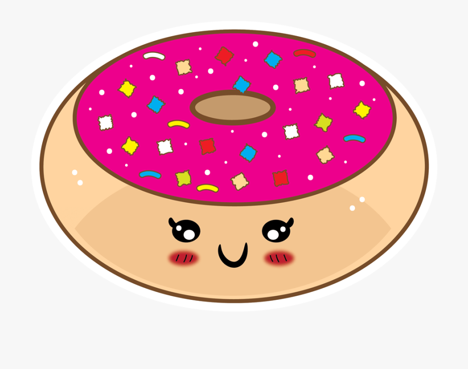 Donut clipart face. Cute kawaii png free