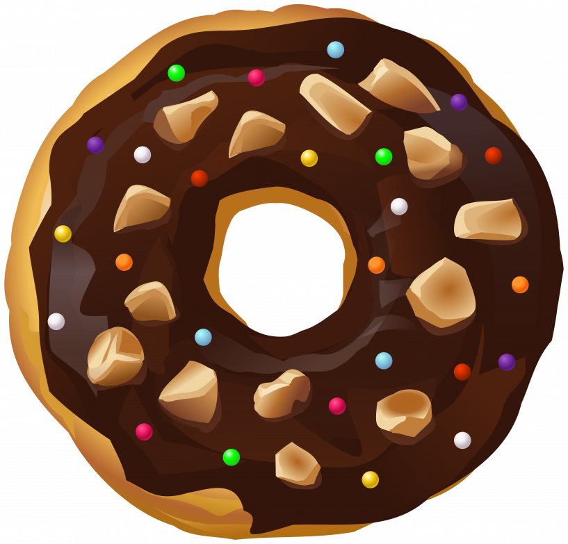 Donut clipart face. Chocolate transparent png image
