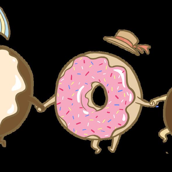 Art of ima summer. Donut clipart float