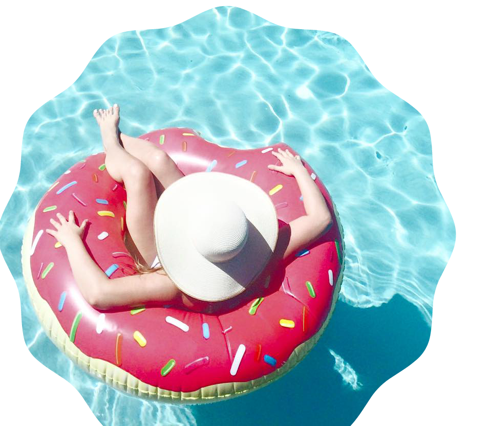 Donut clipart float. Pool floats the best