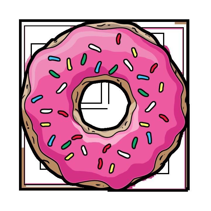 Donut clipart frame. Donuts png file mart