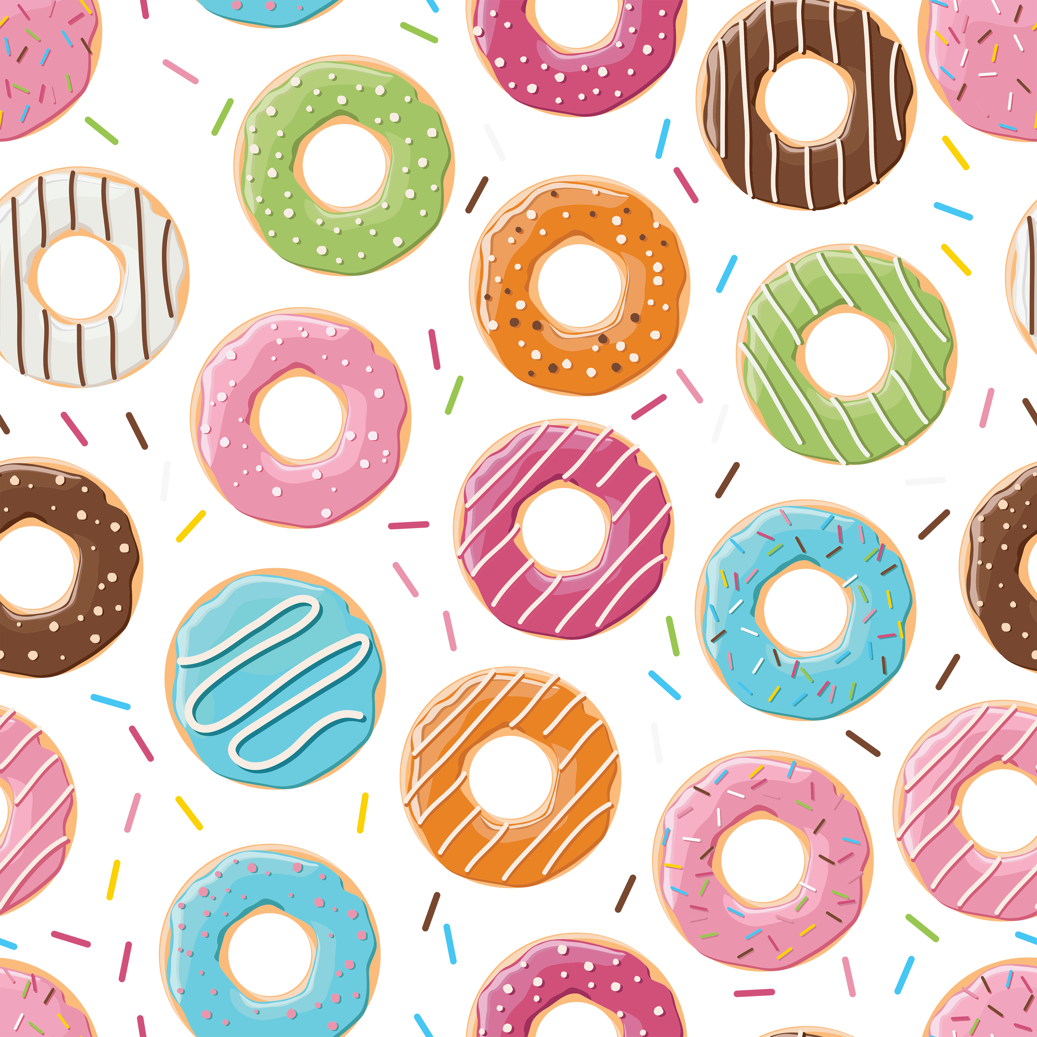 Donut clipart frame. Free doughnut digital paper