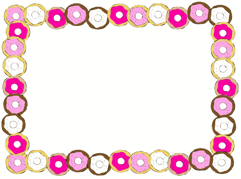 Donut clipart frame. Pink picture heart png
