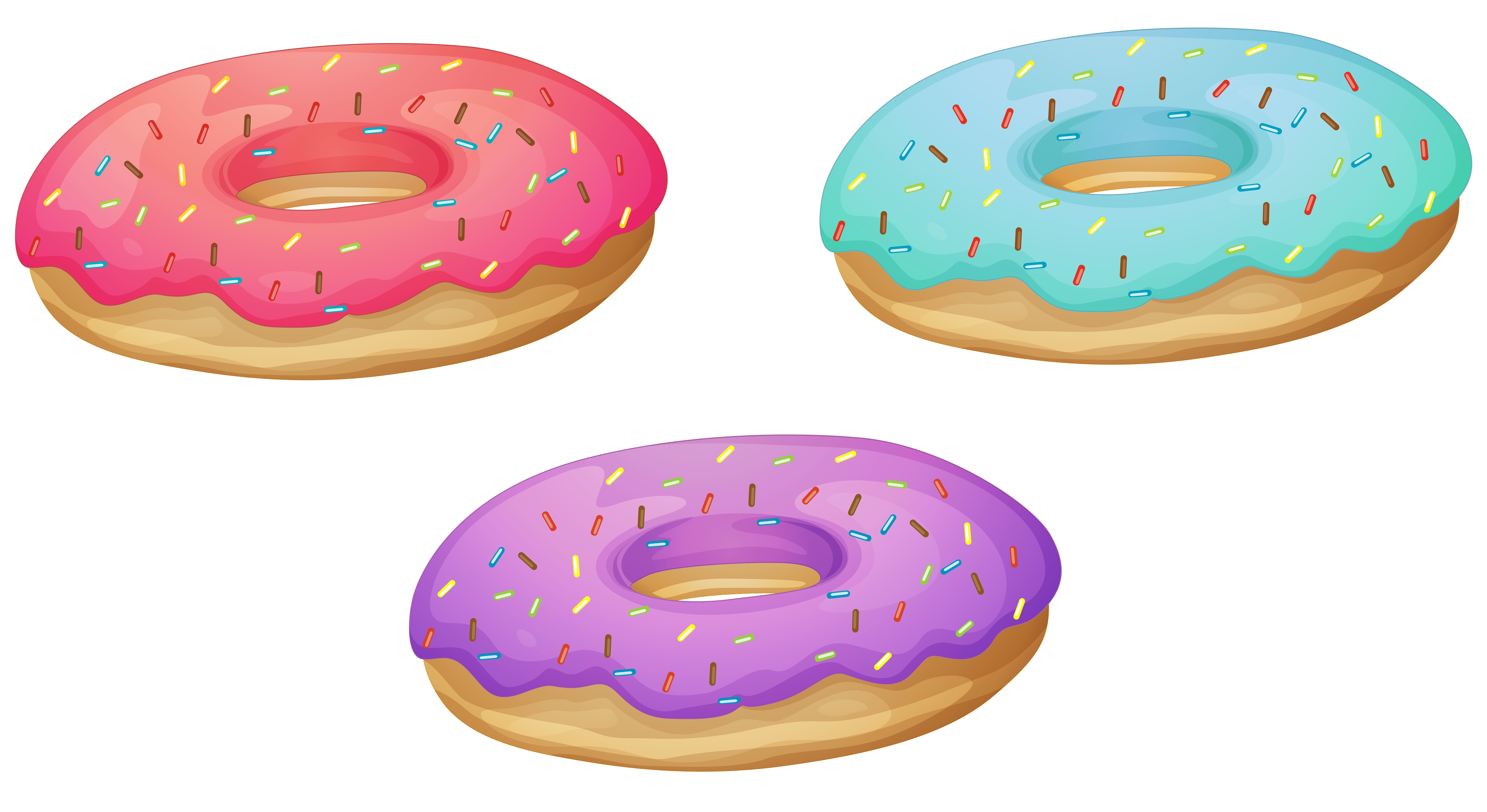 collection of donuts. Donut clipart frame
