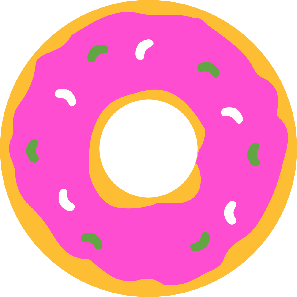 File simpsons svg wikimedia. Donut clipart free coffee