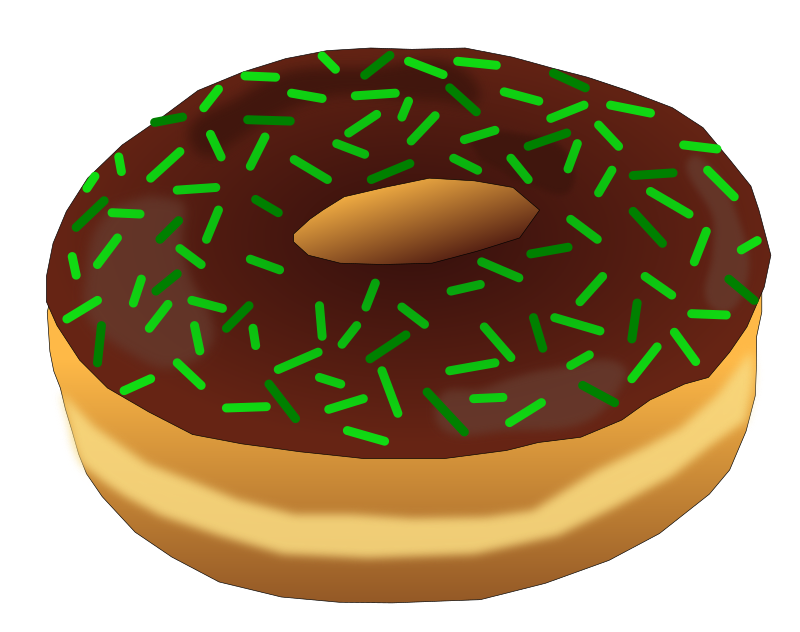 Green medium image png. Donut clipart frosted