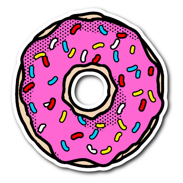 Donut clipart frosted. Pink with sprinkles vinyl
