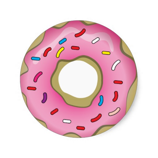 Donut clipart frosted. Free chocolate with sprinkles