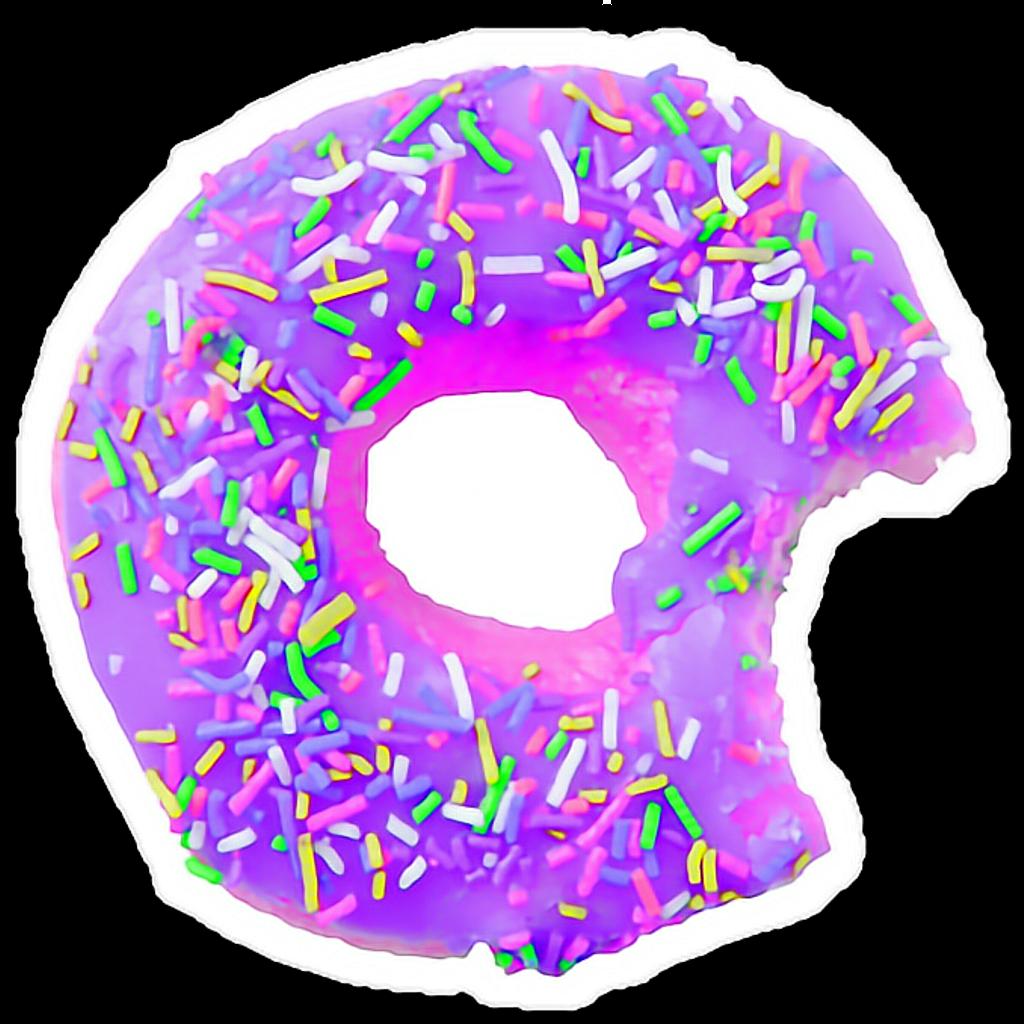 Galaxy clipart donut. Purple tumblr cute sticker