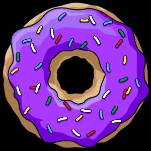 Donut clipart gambar. Doughnut purple clip art