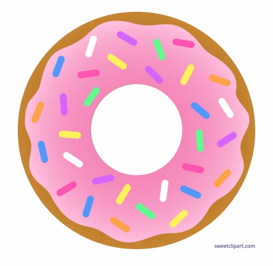 Donut clipart half donut. Dougnut glazed transparent background