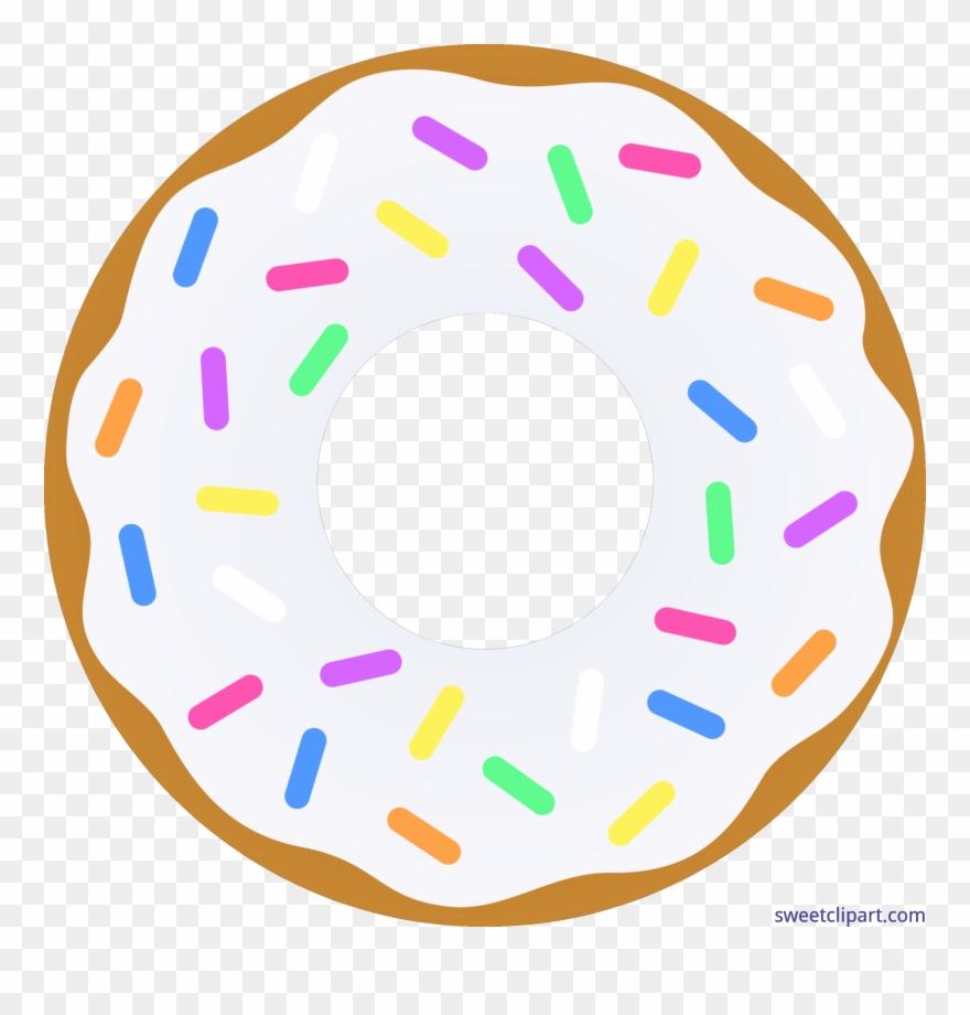 Png single transparent . Donut clipart half donut