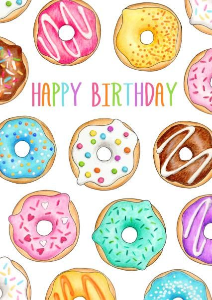 Pin by elise on. Donut clipart happy birthday