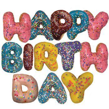 Donut clipart happy birthday. Donuts halle bday