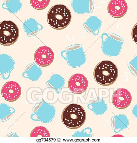 Donut clipart hot chocolate. Vector art and ring