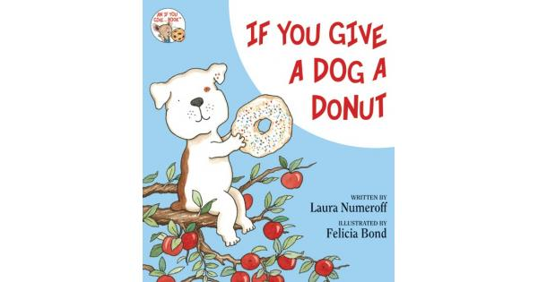 Book review . Donut clipart if you give a dog a donut
