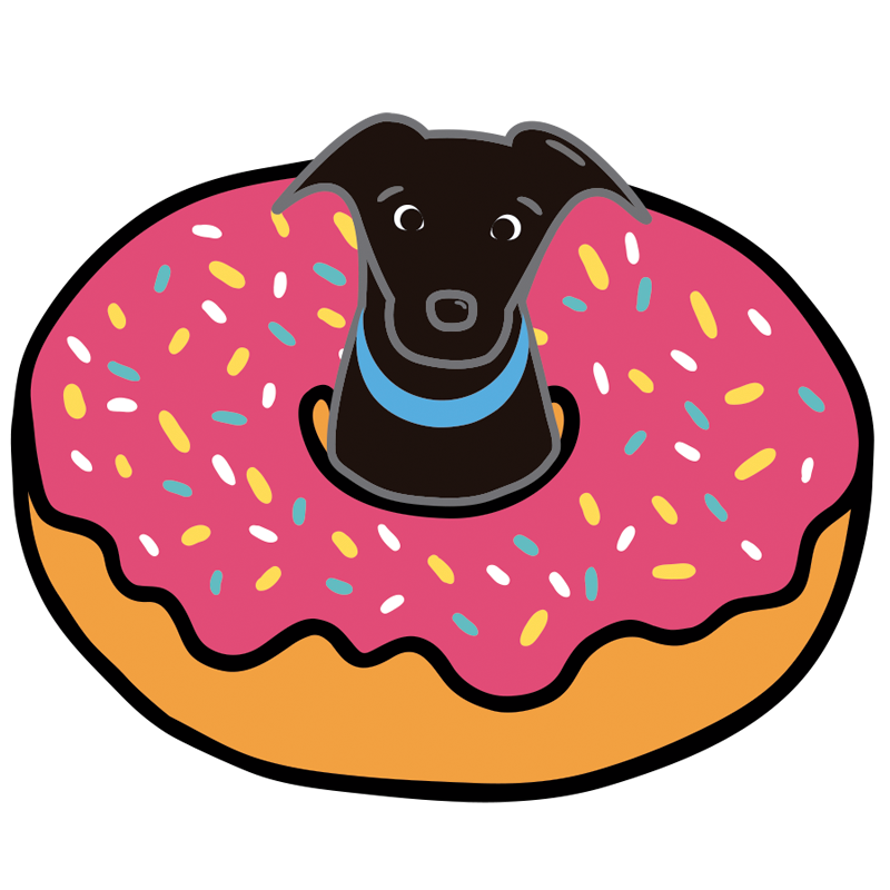 Dogs in donuts dogsindonuts. Donut clipart if you give a dog a donut