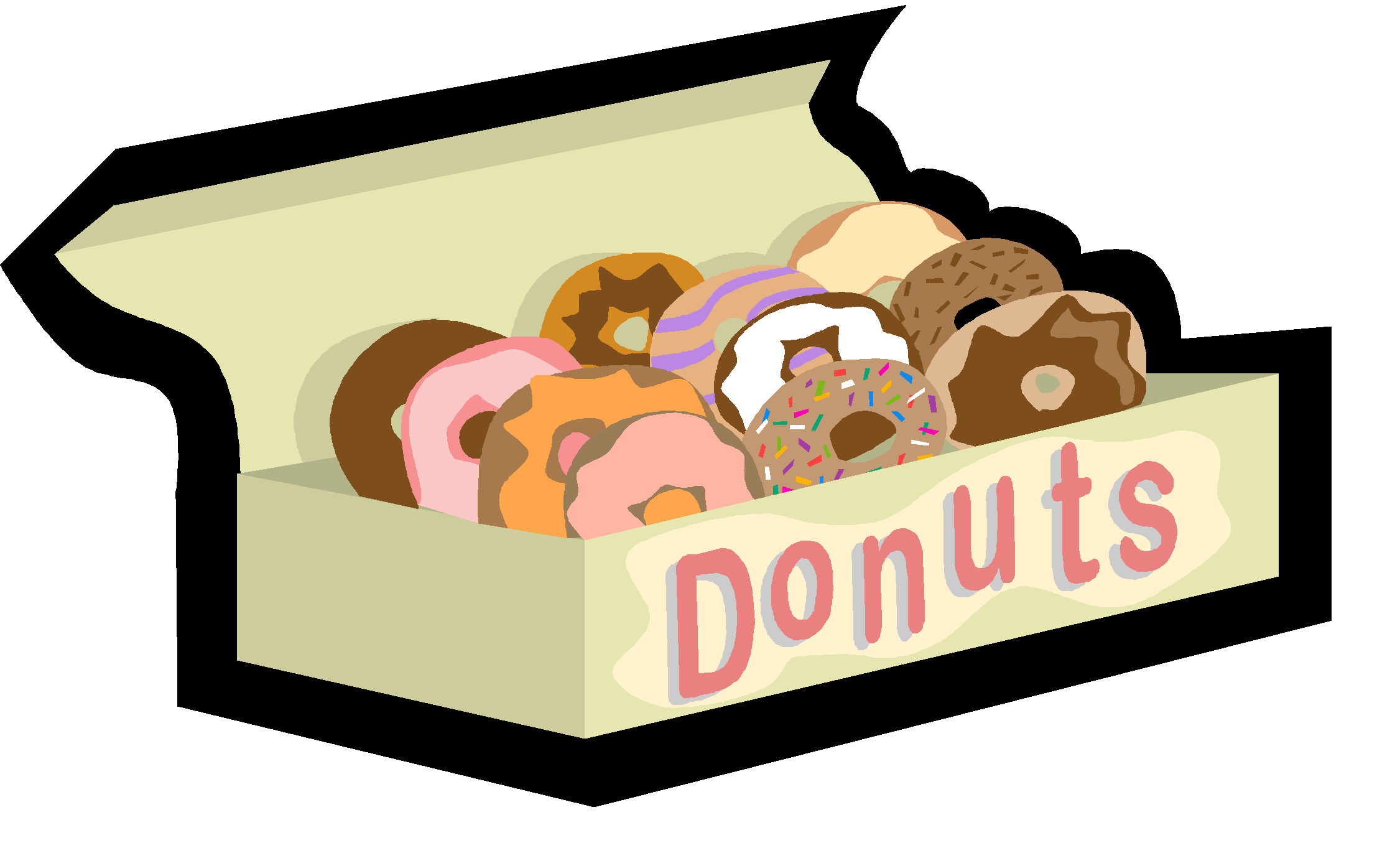 Taming test anxiety mu. Donut clipart in box
