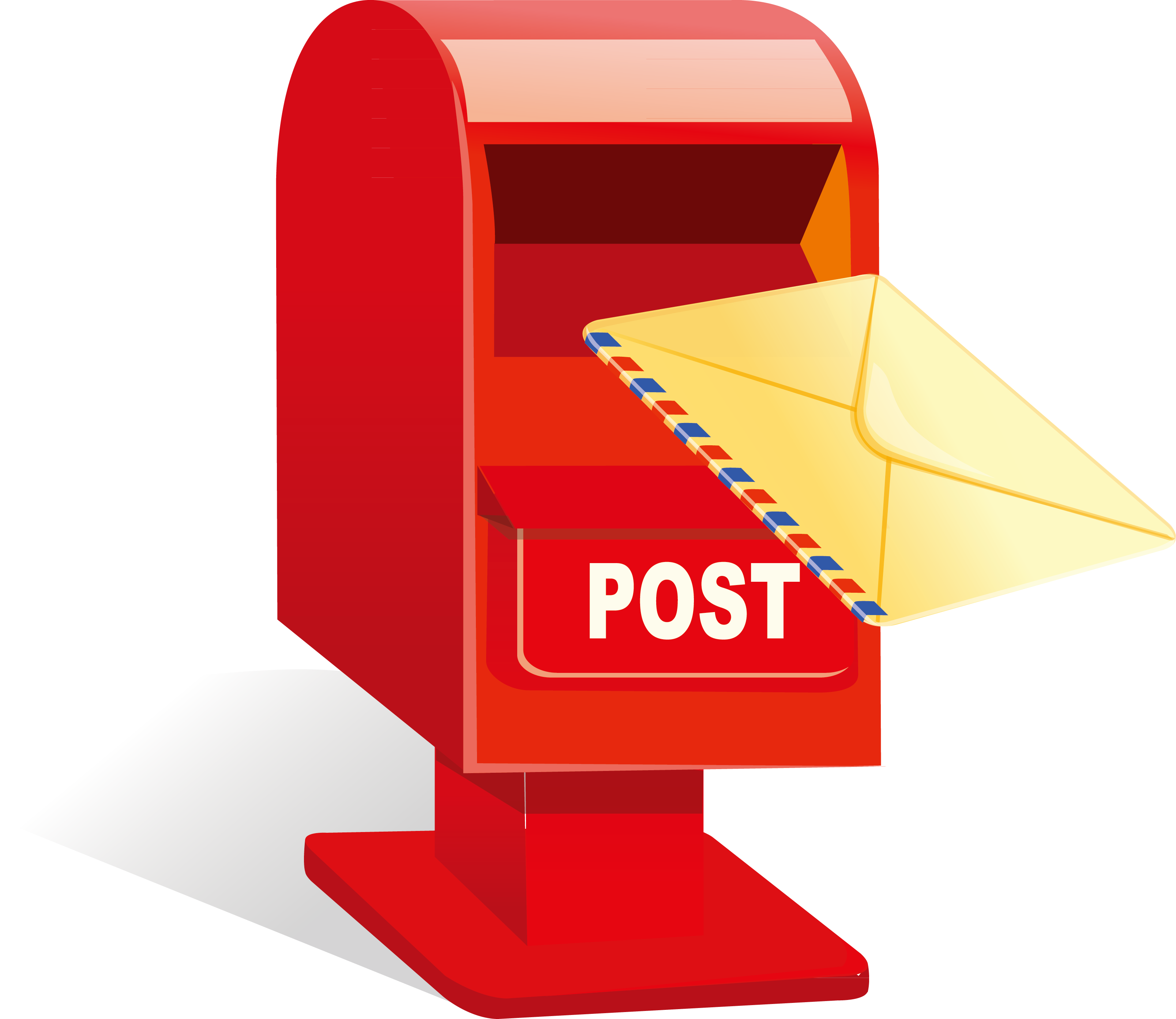 Post box letter mail. Mailbox clipart closed