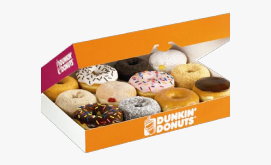 Donut clipart in box. Dunkin donuts doughnut png