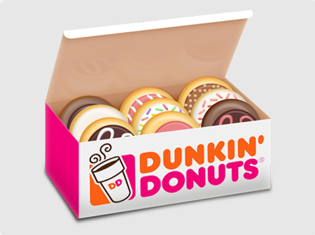 Free cartoon cliparts download. Donut clipart in box