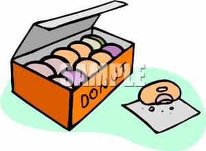 Donuts free download best. Donut clipart in box