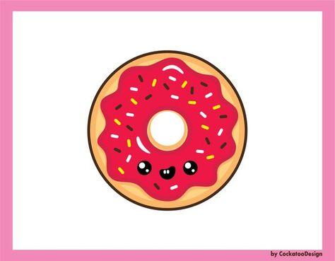 Donuts clipart kawaii. Pinterest