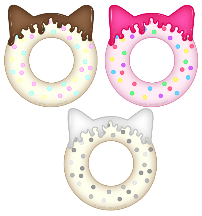 Doughnuts by hinapepinvoxkaiser on. Doughnut clipart kawaii