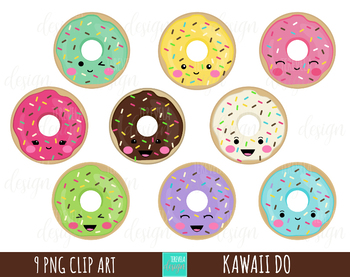 Doughnut clipart kawaii. Donuts food sweet treats