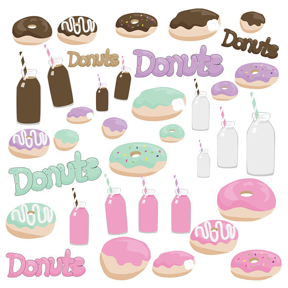 And donut cream . Donuts clipart milk