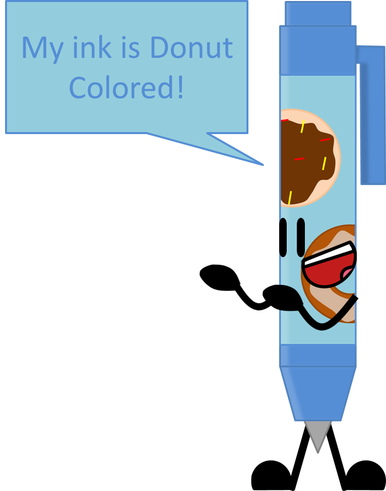 Drawing pen by objecthello. Donut clipart object