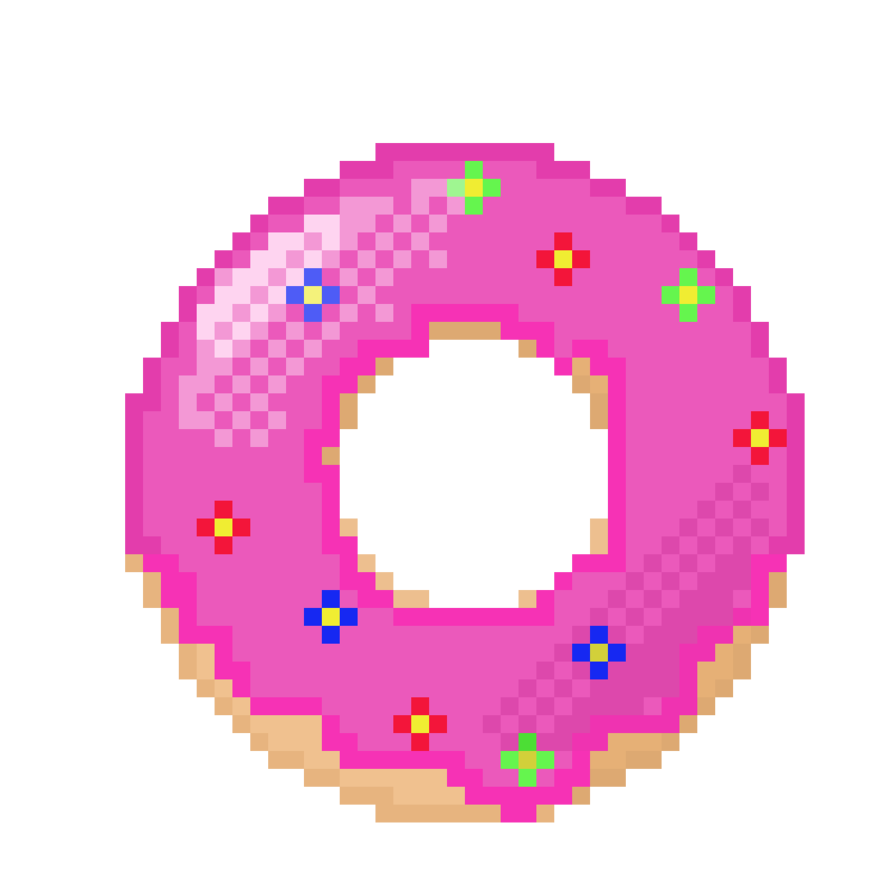 Donut clipart object. Strawberry by aescent on