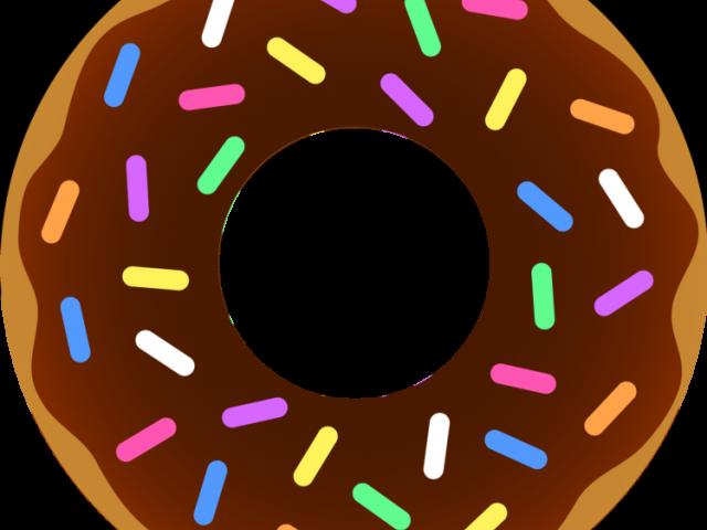 Clip art border vector. Donut clipart outline