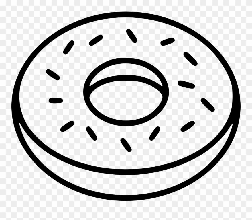 Doughnut clipart outline. Donut comments black and