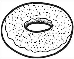 Doughnut clipart outline. Free simple donut cliparts