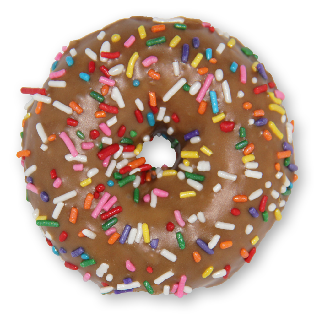 Menu slodoco maple sprinkle. Donuts clipart frosted donut