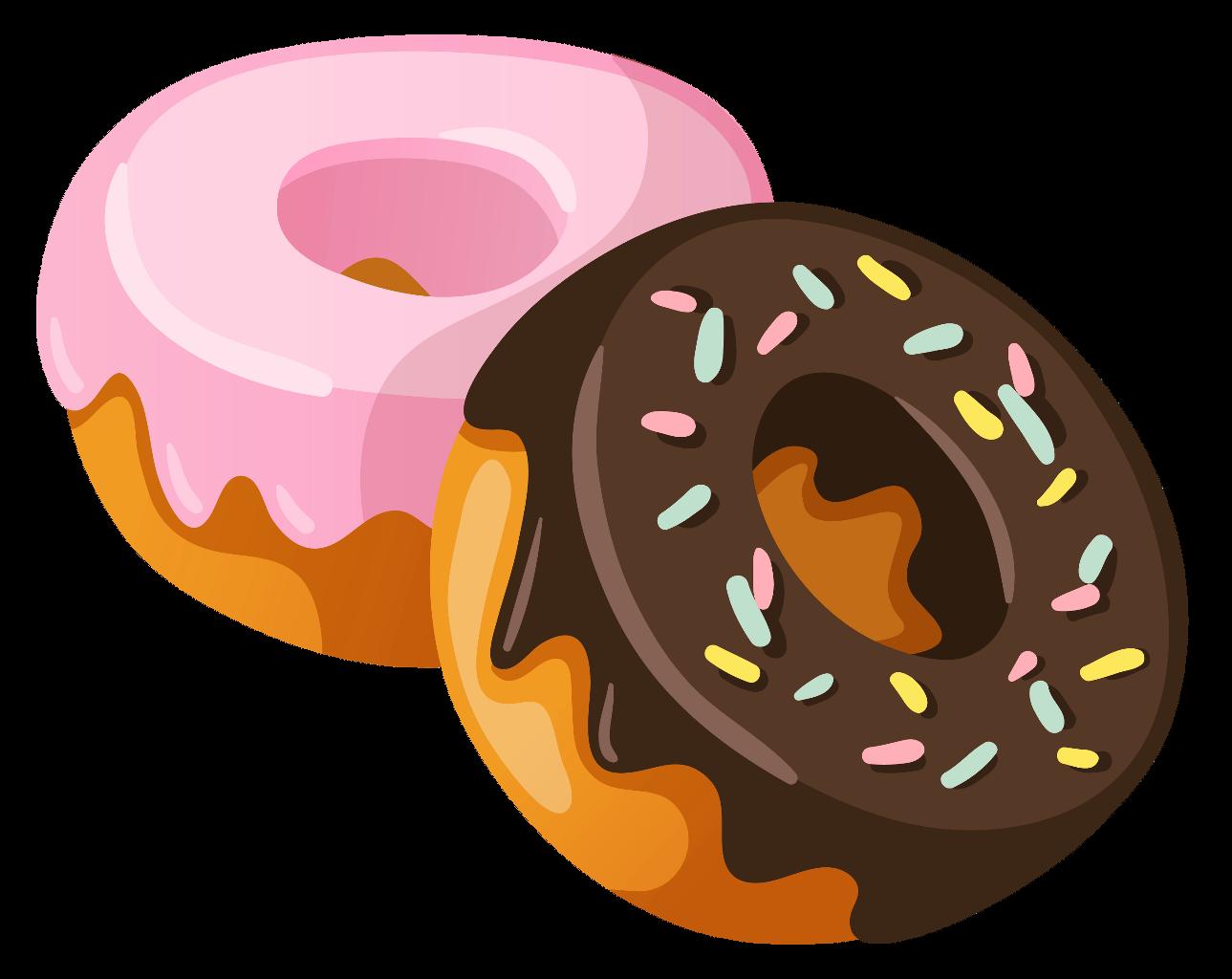 Donuts clipart kawaii. Donat cute ftestickers sticker