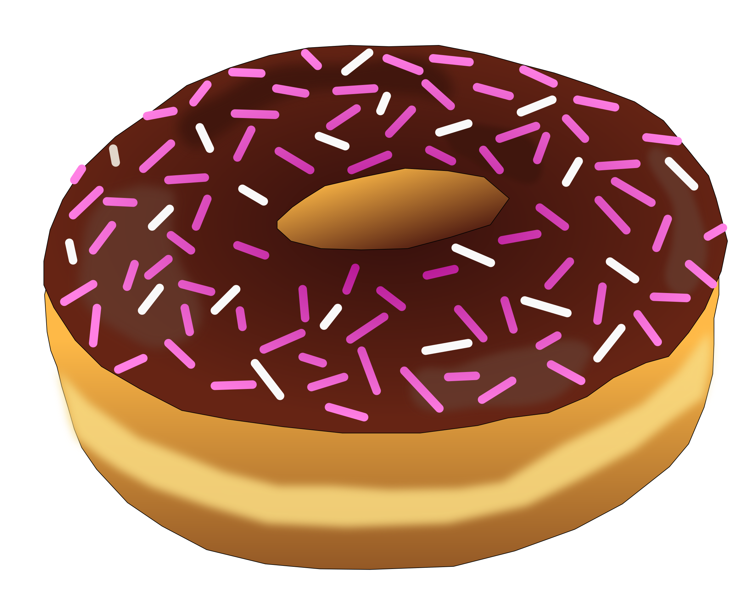 Donuts clipart valentines. Pink donut big image
