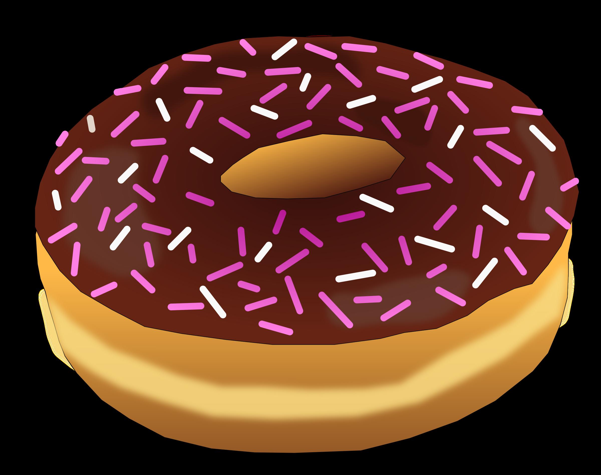 Big image png. Donut clipart pink donut