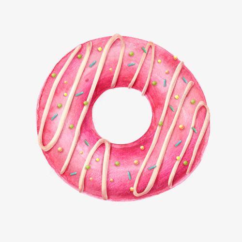 Un donut clip art. Donuts clipart pink
