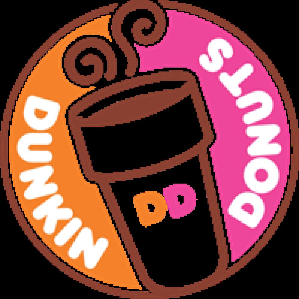 Donut clipart plate donut. Custom dunkin donuts logo