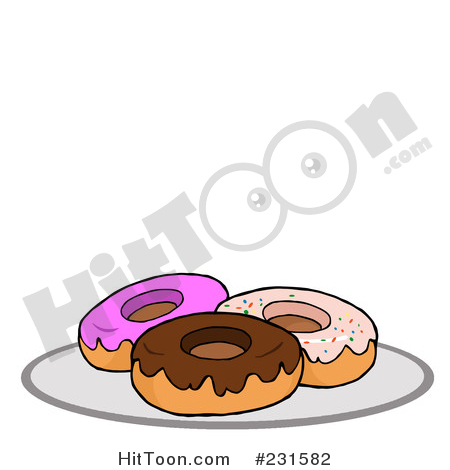 Of donuts by hit. Donut clipart plate donut