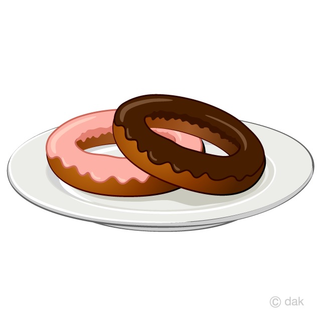 Chocolate on free picture. Donut clipart plate donut