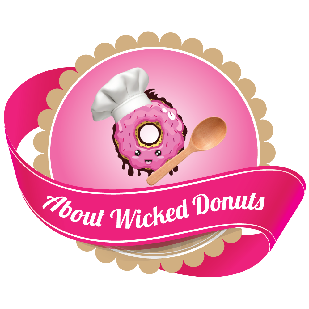 Doughnut clipart donut icing. Wicked donuts handcrafted gourmet