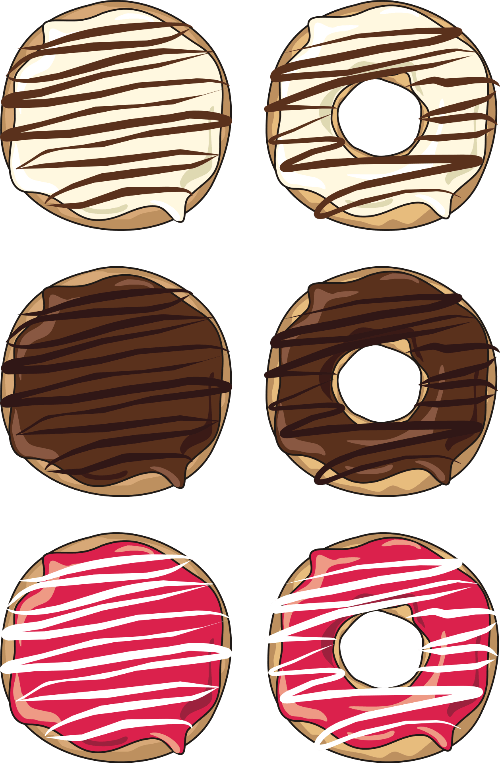 Donut clipart printable. Stickers free papercraft templates