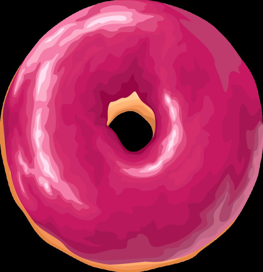 Doughnut clipart purple. Pink by rosemoji on
