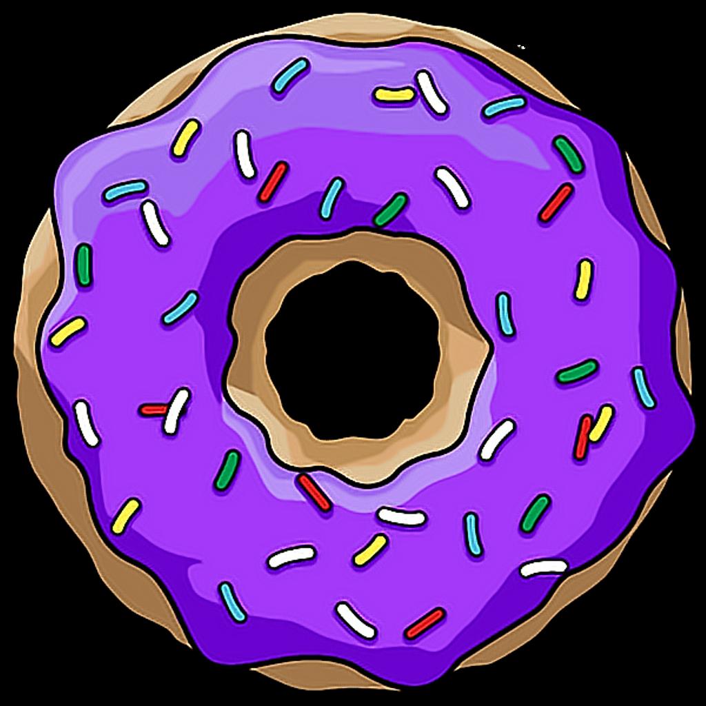 Doughnut clipart purple. Scpurple dona morado donut