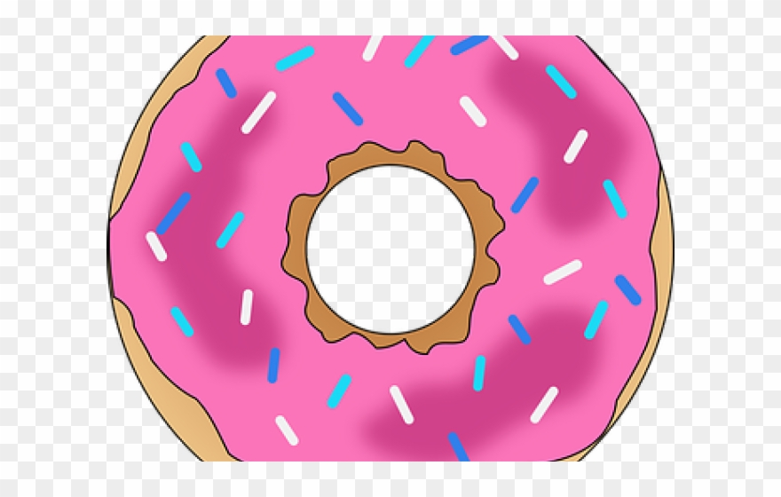 Donuts clip art ice. Doughnut clipart bitten donut